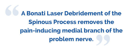 laser debridement spinous process