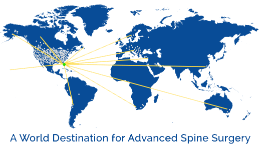 Map showing where Bonati patients travel from