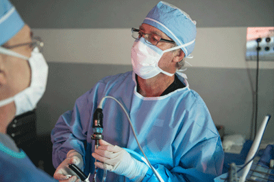 Surgeons remove spinal bone fragments